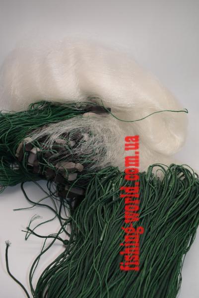 Фото Сети (ДЛЯ ПРОМЫШЛЕННОГО ЛОВА), Сети рыболовные одностенные (для промышленного лова), Вшитый груз Сетка рыболовная(одностенная,вшитый груз,белая,леска)100*1.8м;95 ячейка