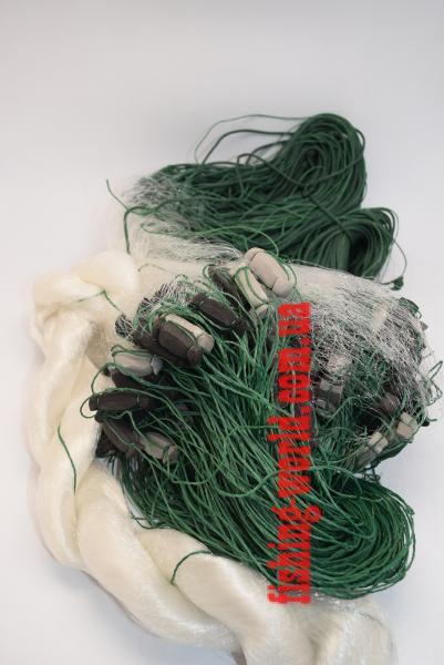 Фото Сети (ДЛЯ ПРОМЫШЛЕННОГО ЛОВА), Сети рыболовные одностенные (для промышленного лова), Вшитый груз Сетка рыболовная(одностенная,вшитый груз,белая,леска)100*1.8м;14 ячейка