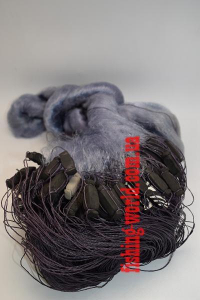 Фото Сети (ДЛЯ ПРОМЫШЛЕННОГО ЛОВА), Сети рыболовные одностенные (для промышленного лова), Вшитый груз Сетка рыболовная(синяя,одностенная,вшитый груз,леска)100*1.8м;25 ячейка
