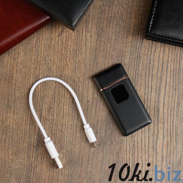 """Зажигалка электронная """"Люкс"""", USB, спираль, чёрная, 7х3.5х0.5 см купить в Гродно - Зажигание электронное"""