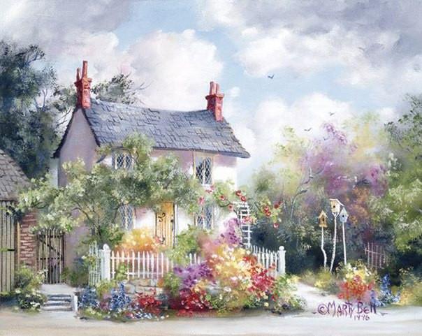 Фото Картины на холсте по номерам, Загородный дом MS 615