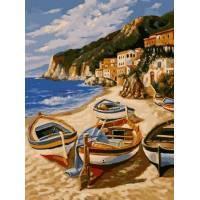 Фото Картины на холсте по номерам, Морской пейзаж VK 201