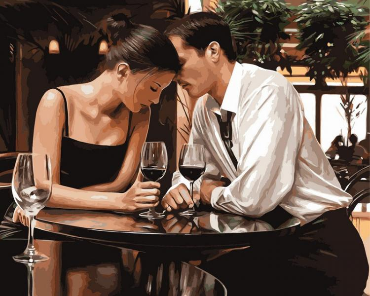 Фото Картины на холсте по номерам, Романтические картины. Люди VP 373