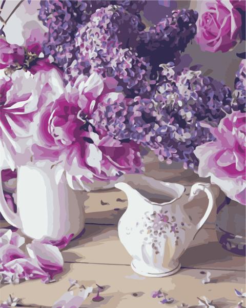 Фото Картины на холсте по номерам, Букеты, Цветы, Натюрморты AS 0243