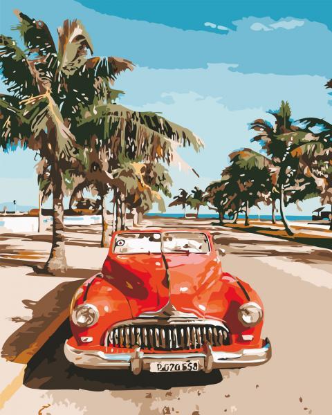 Фото Картины на холсте по номерам, Городской пейзаж AS 0526 Американская классика Картина по номерам на холсте Art Story 40x50см