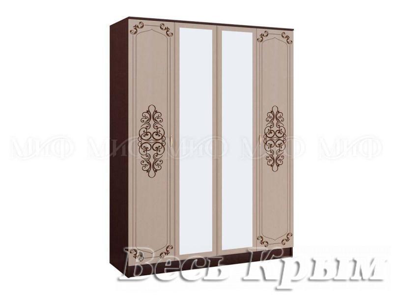 "МИФ - Спальня ""ЖАСМИН"" (венге/дуб беленый) Шкаф 4-х створчатый Шкафы для спальни в Крыму"