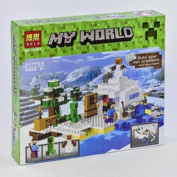 Фото Конструкторы, Конструкторы типа «Лего», Майнкрафт (minecraft) 10391 Конструктор Майнкрафт Снежное убежище Bela, 327 дет.