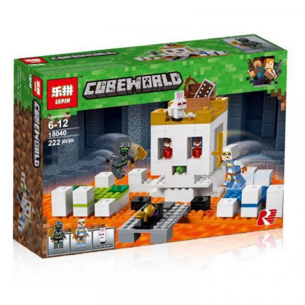 Фото Конструкторы, Конструкторы типа «Лего», Майнкрафт (minecraft) 18040 Конструктор LEPIN  MINECRAFT - Арена-Череп 222 дет.