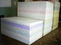 Фото Поролон, синтепон, синтепух (холлофайбер), Вторичновспененный поролон (ВППУ) Поролон вторично вспененный  толщина 40мм (плотность 60 кг/м3) 1х2м