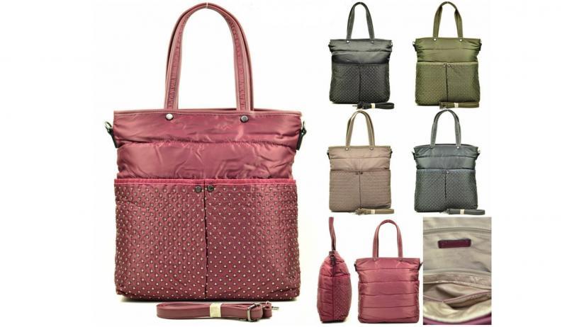 Фото Женские сумки, Модная классика. Экокожа и комбинированные  Сумка из текстиля Tom&Eva