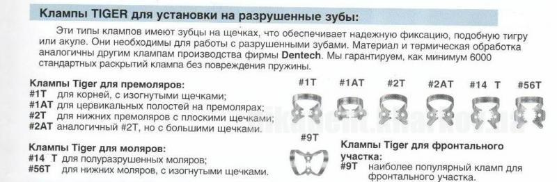 Фото Для стоматологических клиник, Инструменты и материалы для коффердама Кламп для разрушенных зубов.