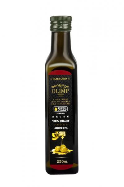 Оливковое масло  EXTRA VIRGIN OLIVE OIL Olimp Black Label 250 мл.