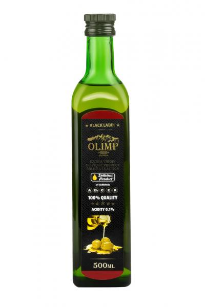 Оливковое масло EXTRA VIRGIN OLIVE OIL Olimp Black Label 500 мл.