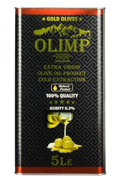 Оливковое масло EXTRA VIRGIN OLIVE OIL Olimp Black Label 5 л.