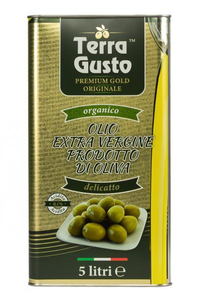 Оливковое масло EXTRA VIRGIN OLIVE OIL Terra Gusto Gold 5 л.
