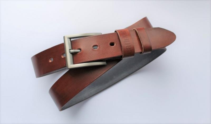 """Мужской кожаный ремень """"Verità"""" коричневый"""