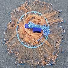 Фото Рыболовные сети (Для промышленного лова), Кастинговые сети (Парашюты) КАСТИНГОВАЯ СЕТЬ С КОЛЬЦОМ ФРИЗБИ ИЗ НИТИ (ОРИГИНАЛ)
