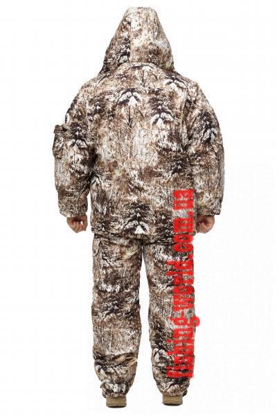 Фото Одежда для рыбаков и охотников, ТЕПЛЫЙ ЗИМНИЙ КОСТЮМ ДЛЯ ОХОТЫ И РЫБАЛКИ ИЗ НЕПРОМОКАЕМОЙ ТКАНИ ALOVA БЕЛАЯ РЫСЬ РАЗМЕР 46-62