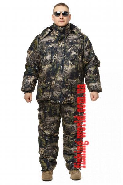 Фото Одежда для рыбаков и охотников, ТЕПЛЫЙ ЗИМНИЙ КОСТЮМ ДЛЯ ОХОТЫ И РЫБАЛКИ ИЗ НЕПРОМОКАЕМОЙ ТКАНИ ALOVA ХВОЙНЫЙ ЛЕС РАЗМЕР 42-63
