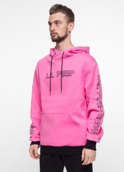 Худи утепленный Ira - Lil Peep, Pink