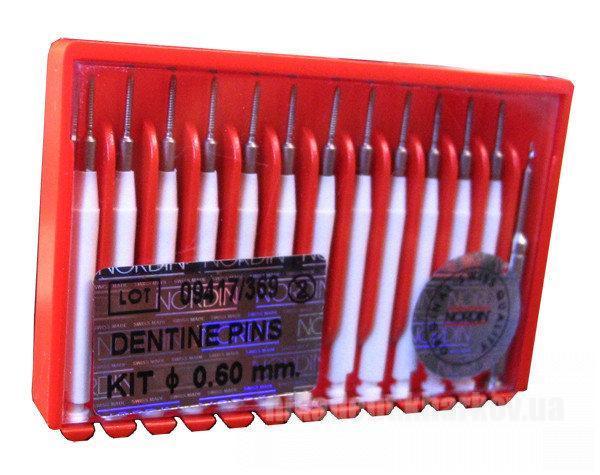 Фото Для стоматологических клиник, Эндоинструменты Парапульпарные штифты Нордин (Nordin) - 0,6 мм белые (12 шт + 1 рв)