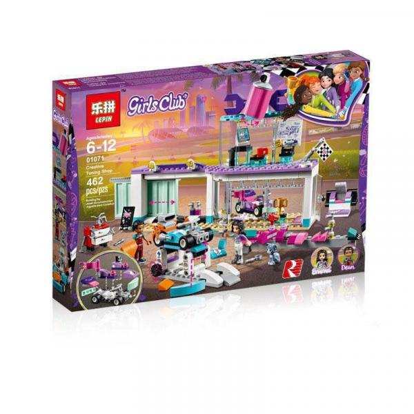 01071 Конструктор Friends Lepin Мастерская по тюнингу автомобилей (аналог Lego 41351), 462 дет