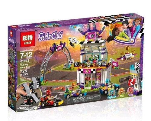 01072 Конструктор Lepin Большая гонка (аналог Lego Friends 41352), 725 дет