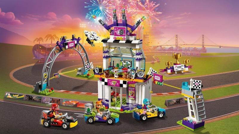 Фото Конструкторы, Конструкторы типа «Лего», Конструкторы для девочек (эльфы, friends, paradise) 01072 Конструктор Lepin Большая гонка (аналог Lego Friends 41352), 725 дет