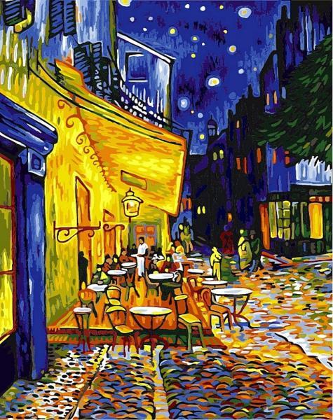 "VP 504 ""Ночная терраса кафе"" Ван Гог Роспись по номерам на холсте 40х50см"
