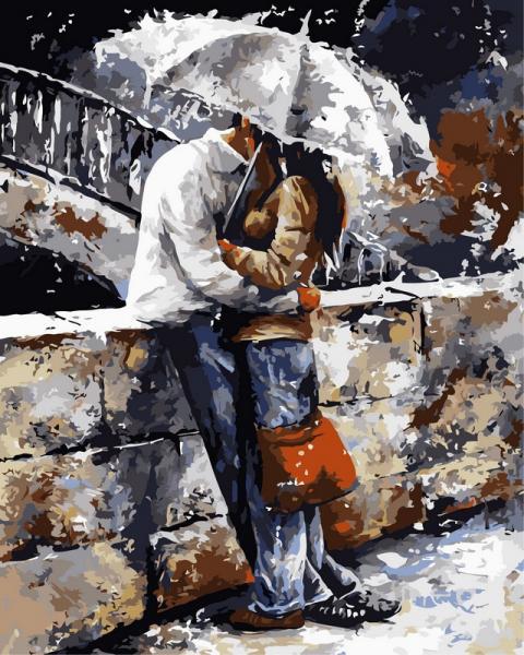 Фото Картины на холсте по номерам, Романтические картины. Люди VP 314