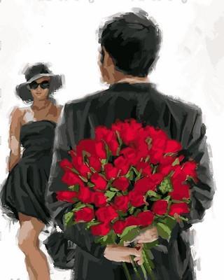 Фото Картины на холсте по номерам, Романтические картины. Люди VP774 Картина по номерам на холсте 40х50см