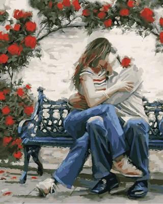 Фото Картины на холсте по номерам, Романтические картины. Люди VP775 Картина по номерам на холсте 40х50см