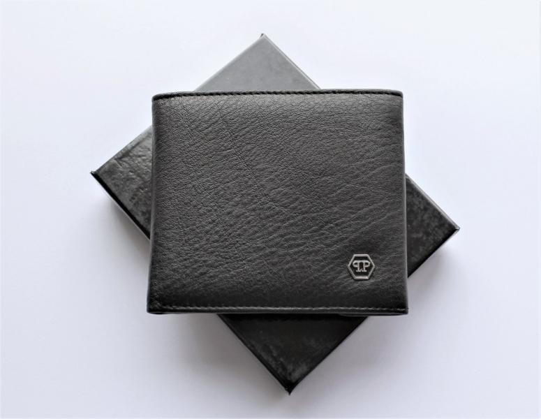 Мужской кошелек Philipp Plein на магните черный