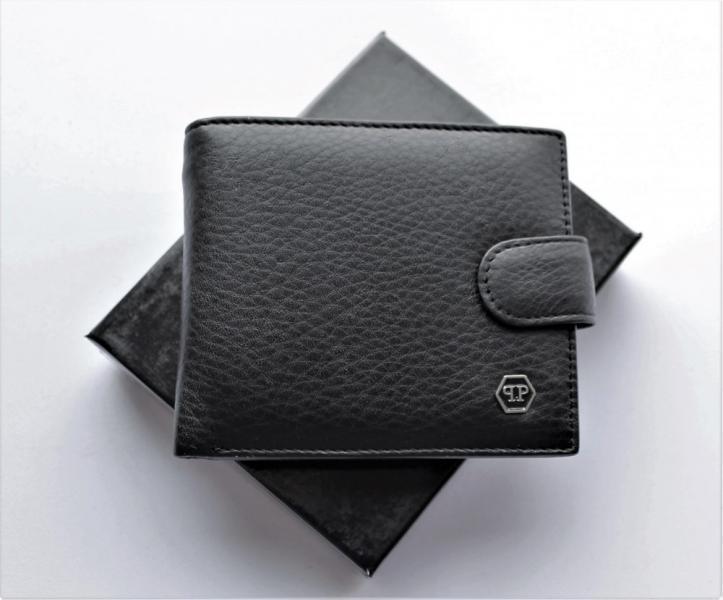 Мужской кошелек Philipp Plein с зажимом черный