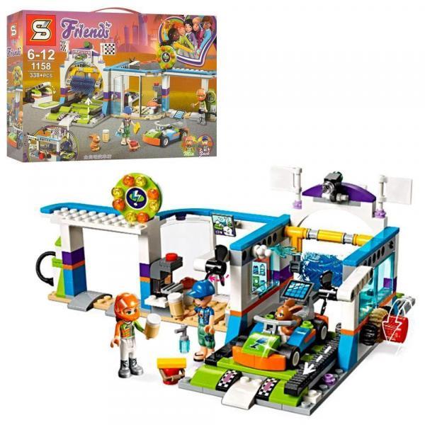 "1158 Конструктор (Аналог Lego Friends 41350) ""Автомойка"" 338 деталей"