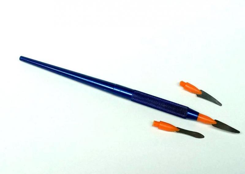 Шпатель для разделения керамики (Синий)