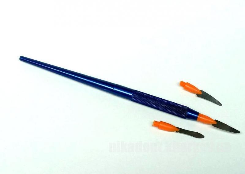 Фото Для зуботехнических лабораторий, АКСЕССУАРЫ, Инструменты Шпатель для разделения керамики (Синий)