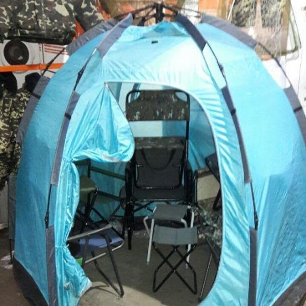 Палатка Зонт для зимней рыбалки  2,5х2,9м. 6 дуг.
