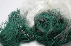 Фото Рыболовные сети Сетка рыбацкая трехстенка капрон груз капля 1.6х40м Ø60мм