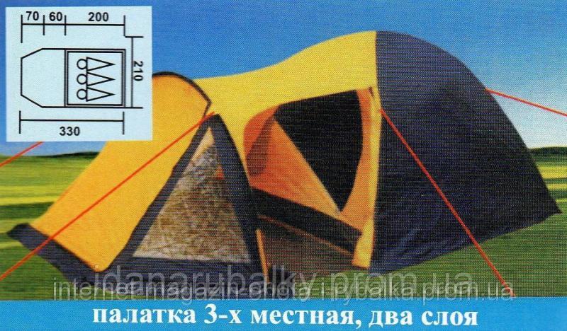 ПАЛАТКА ДВУХСЛОЙНАЯ ТУРИСТИЧЕСКАЯ, ПАЛАТКА 3-МЕСТНАЯ COLEMAN 1504