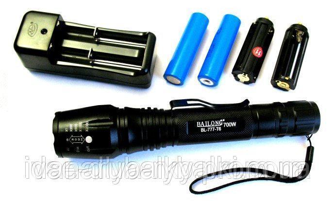 Фонарь светодиодный Bailong BL-777-T6 Police 700W