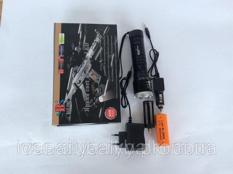 Аккумуляторный, ручной Фонарик BL-E-3