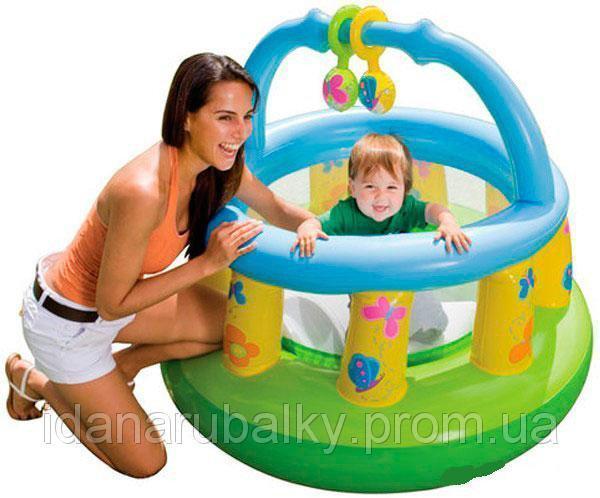 Игровой детский надувной манеж Intex 48474