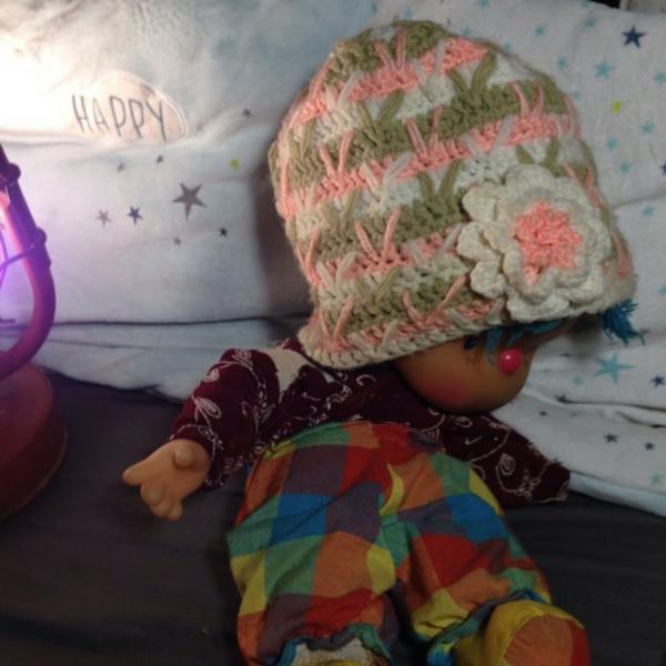 Детская шапка разноцветная
