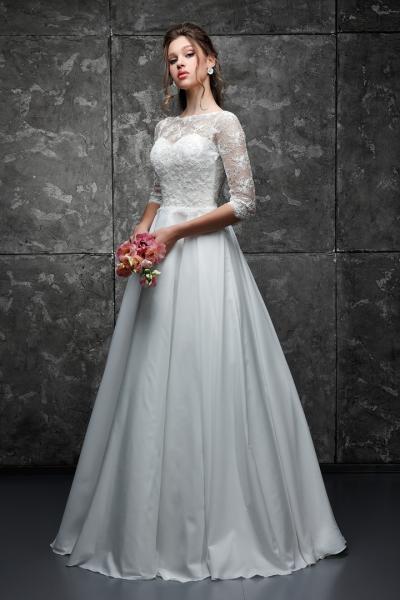 Свадебное платье с рукавами Есения