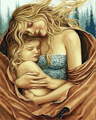 """Картина по номерам VP 688 """"Мать и дитя"""" в коробке 40х50см"""