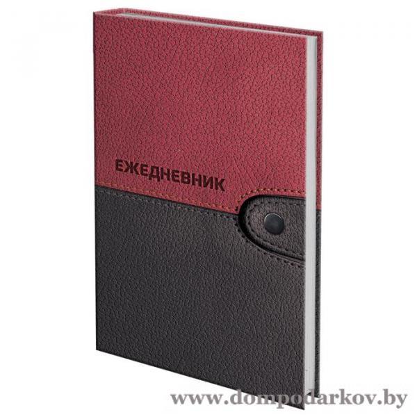 Фото Подарки мужчине  Ежедневник полудатированный на 4 года А5, 192 листа, BRAUBERG «Кожа бордовая», шёлковая, твёрдая обложка