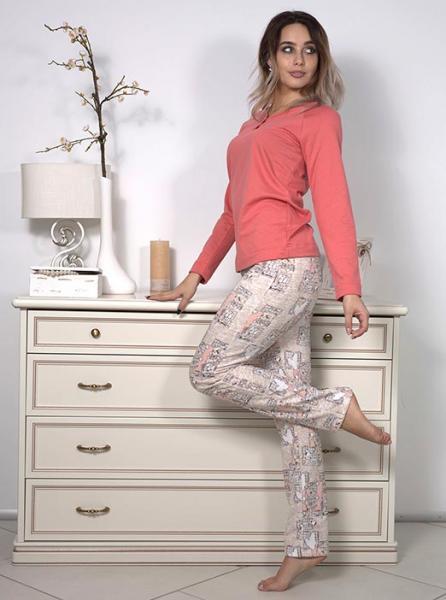Фото  Байковая женская пижама Comely
