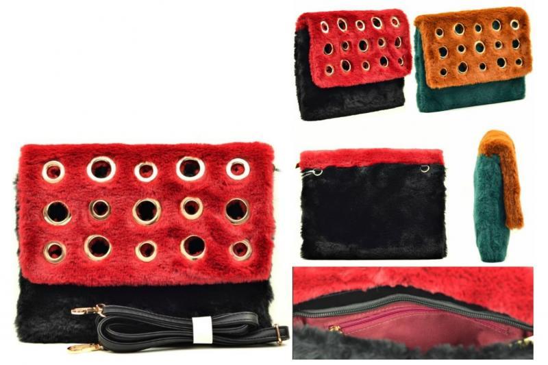 Фото Женские сумки, Оригинальные через плечо. Экокожа и комбинированные Сумка из меха