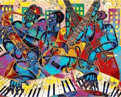 Фото Картины на холсте по номерам, Экспрессионизм, Модернизм, Абстракционизм, Авангард, Примитивизм и т.д. VP815